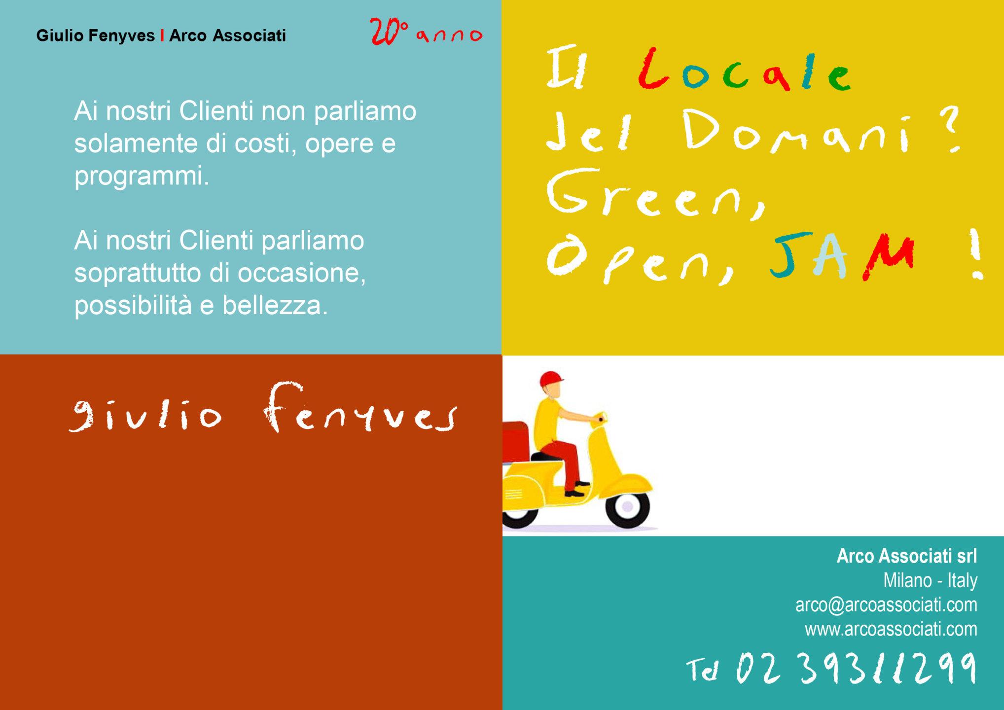 Arco Associati - Il locale del domani? Green, Open, JAM!